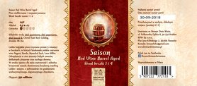 Etykieta Saison Red Wine Barrel Aged Blend 1 & 4