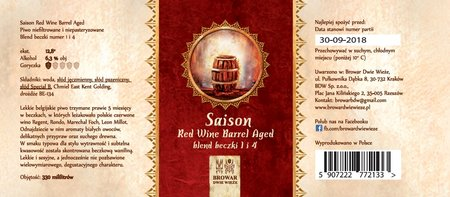 Etykieta Saison Red Wine Barrel Aged Blend 1 & 4 (1)